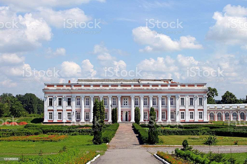 Castle of Polish magnate in Ukraine (XVIII-XIX) stock photo