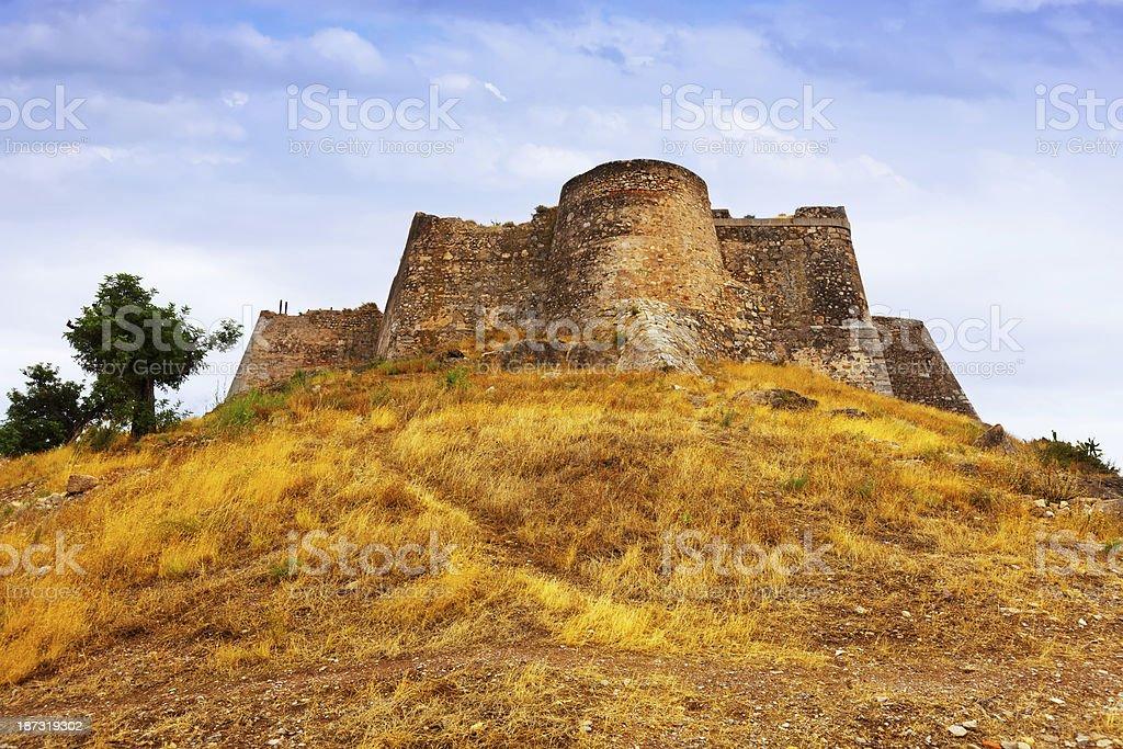 Castle of Sagunto in summer stock photo