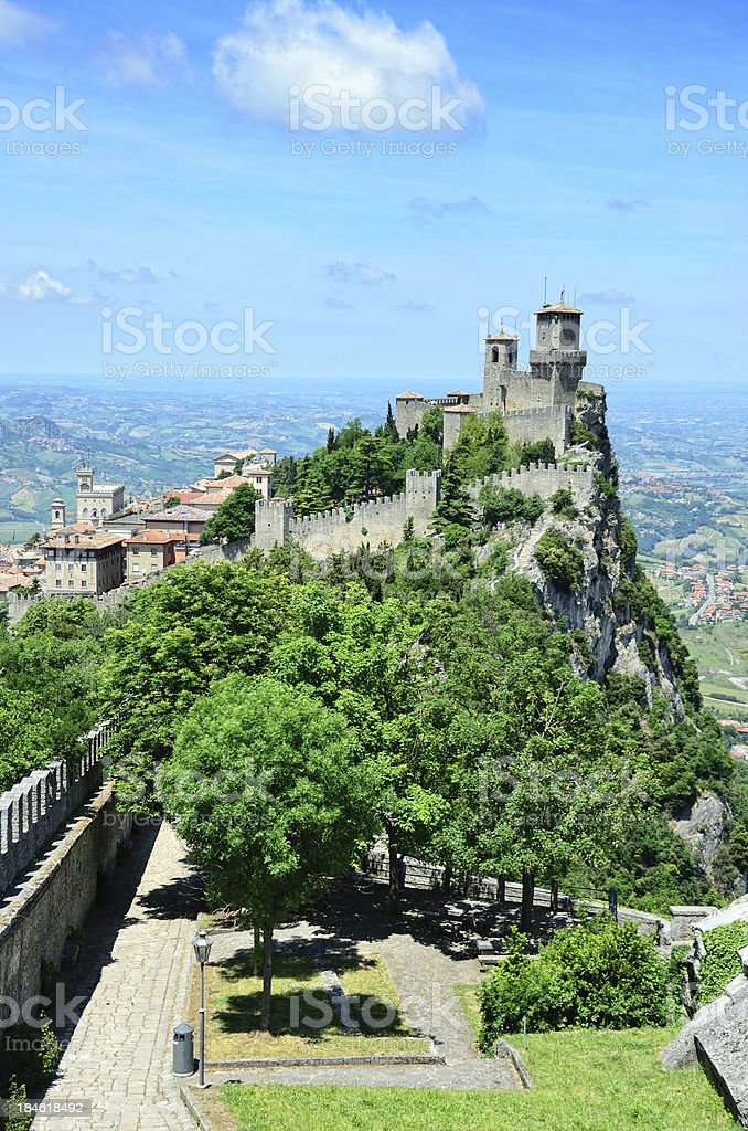 Castle of San Marino royalty-free stock photo