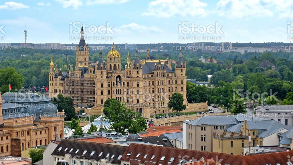 Castle of Schwerin stock photo