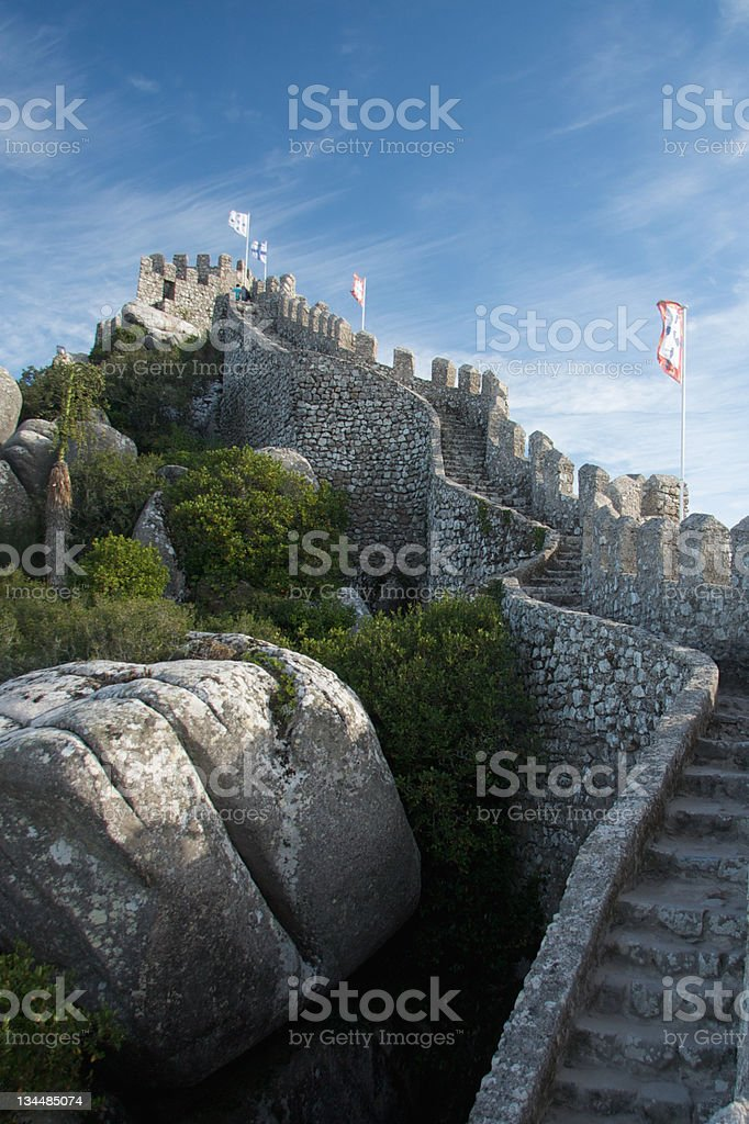 Castle of Sintra stock photo