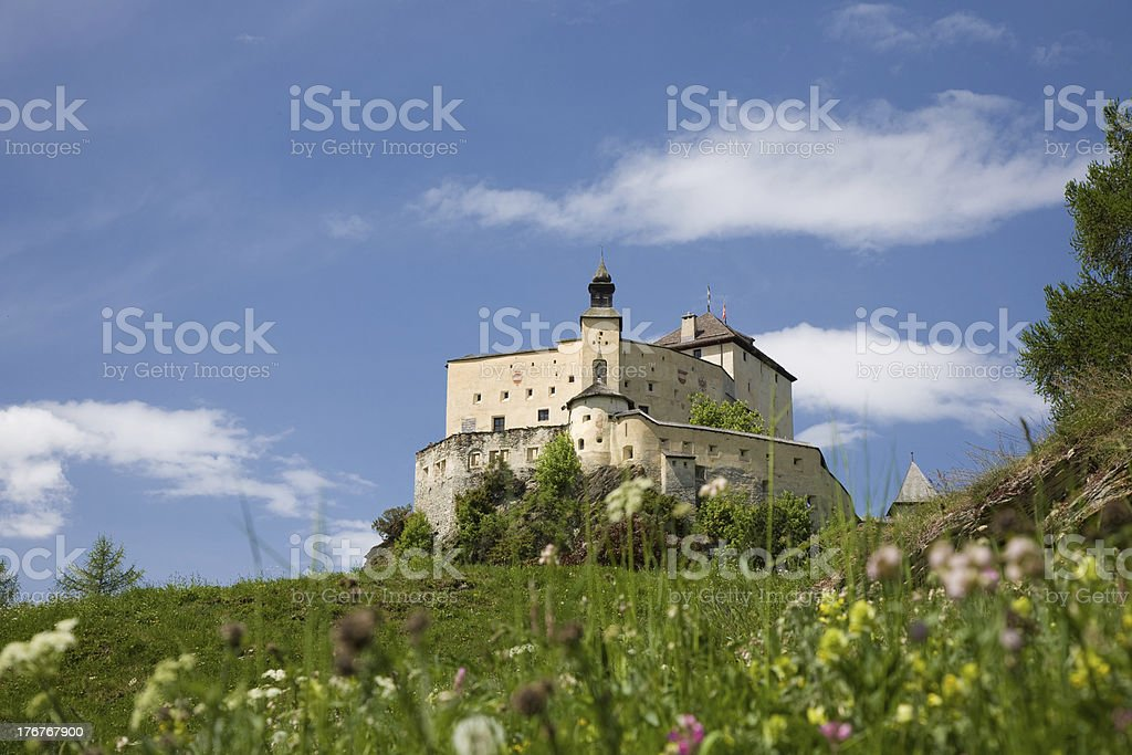 Castle of Tarasp stock photo