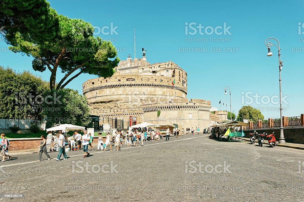 Castle of the Holy Angel in Rome Italy stock photo