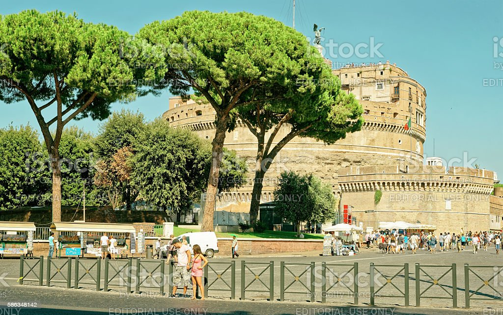 Castle of the Holy Angel in Rome of Italy stock photo