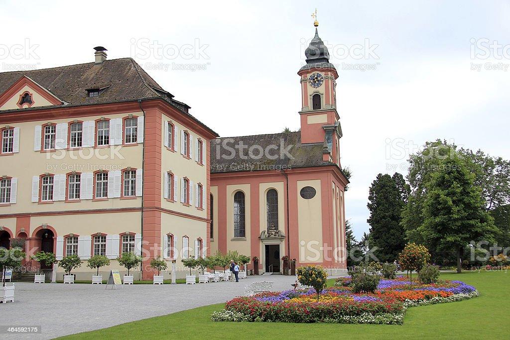 Castle of the Mainau Island in Germany stock photo