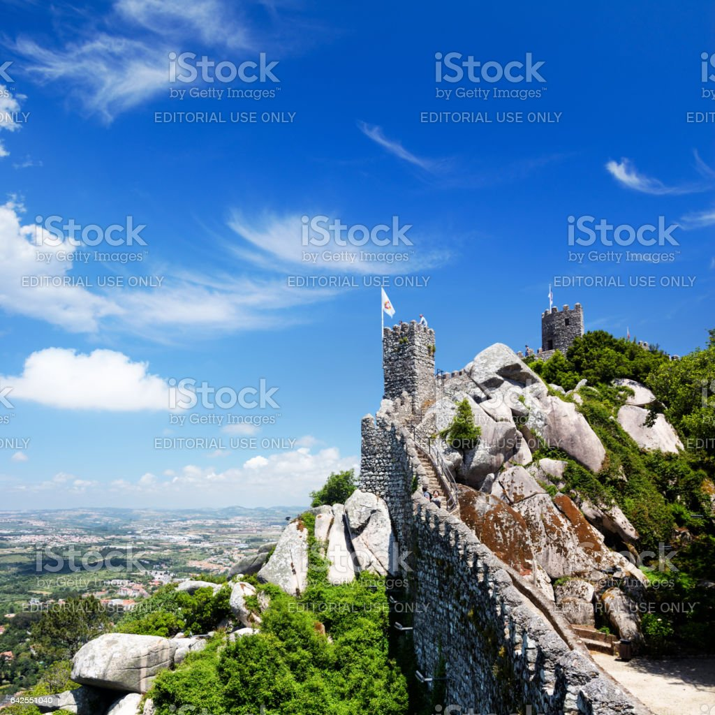 Castle of the Moors, Sintra stock photo