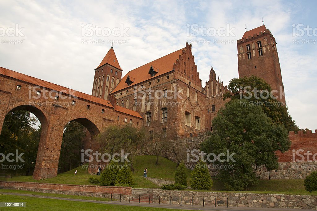 Castle of the Teutonic Knights stock photo