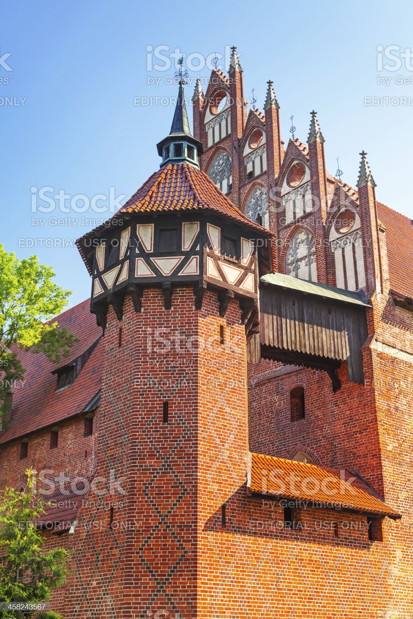 Castle of the Teutonic Order in Malbork royalty-free stock photo