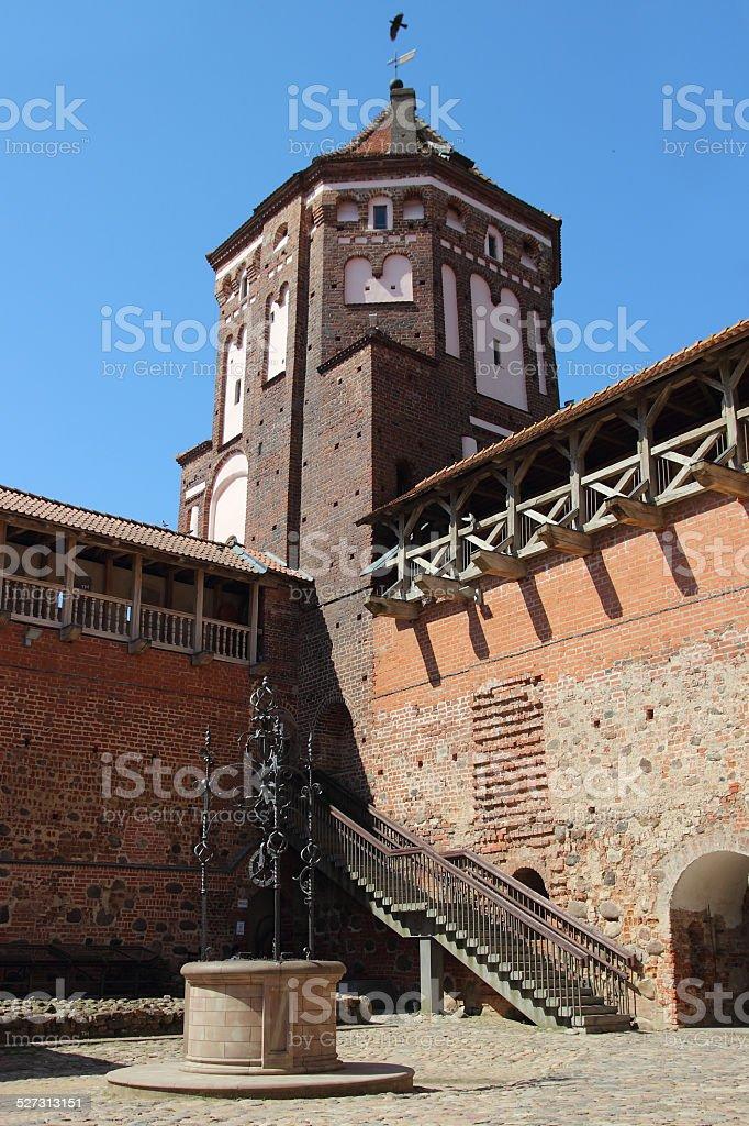 Castle of the XVI century in Mir, Belarus stock photo
