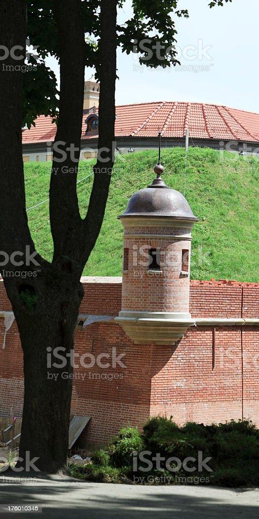 castle of the XVII century in Nesvizh, Belarus stock photo