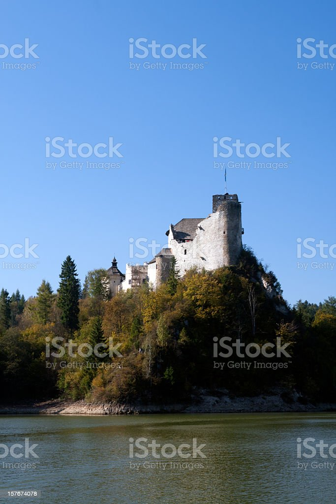 Castle on a cliff stock photo
