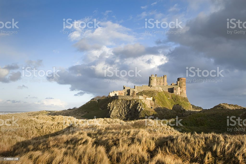 castle on a crag stock photo