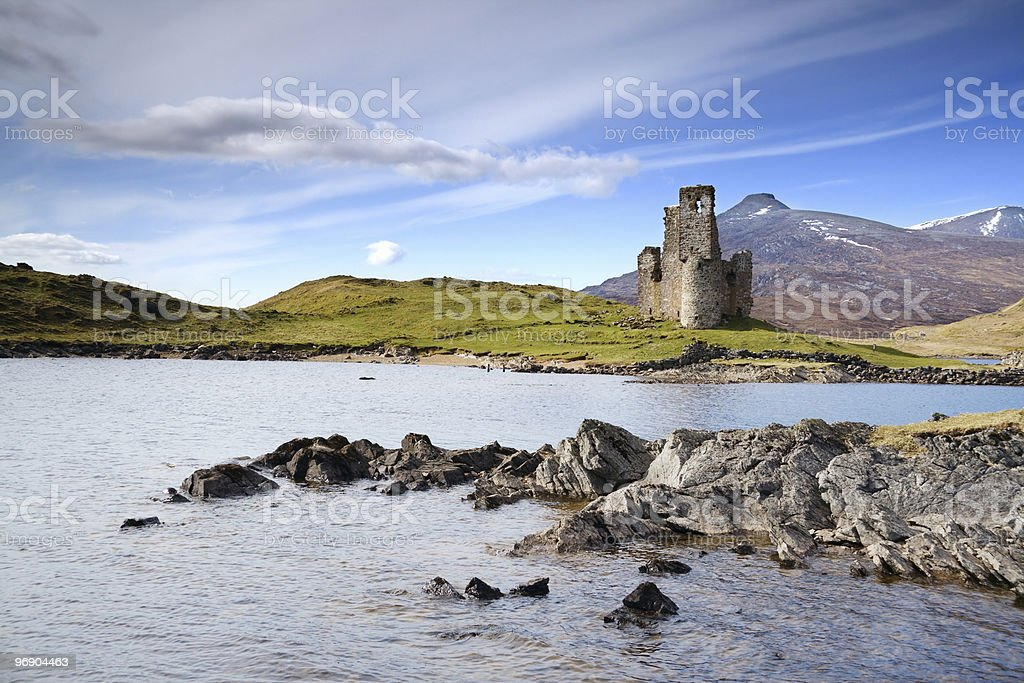 castle on loch stock photo