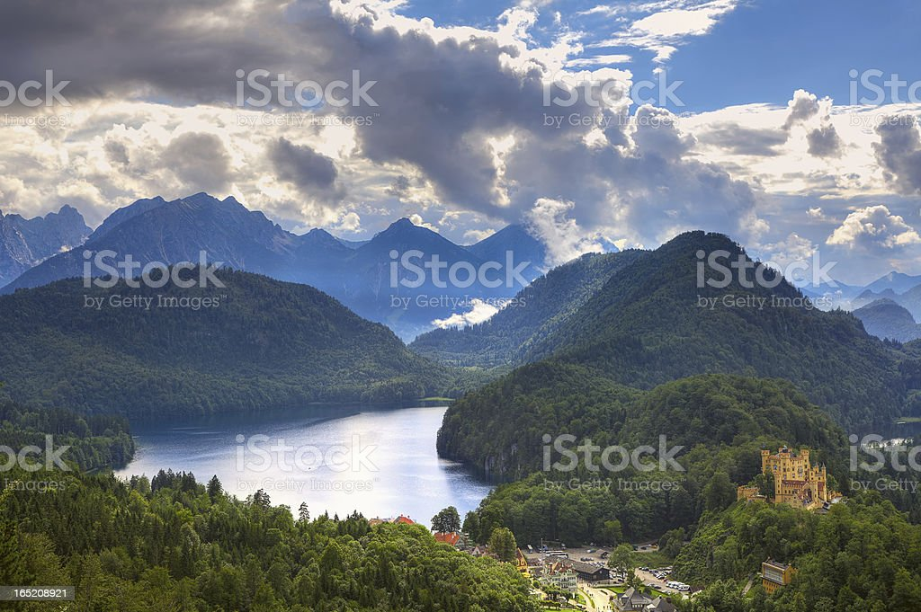 Castle on the hill among mountains in Germany. royalty-free stock photo