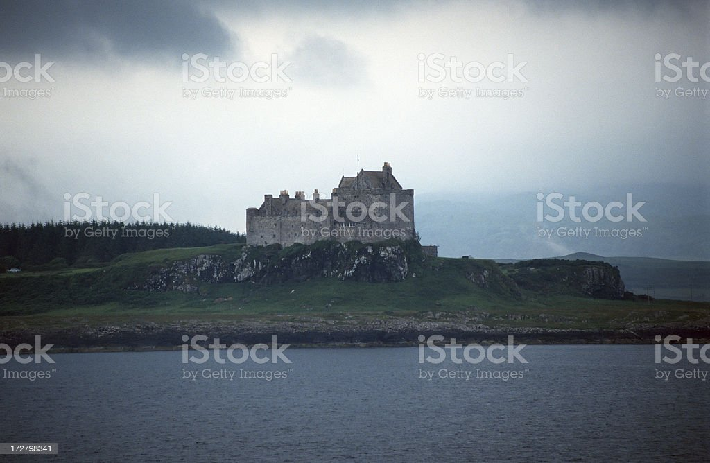 Castle on the iIsland of Mull stock photo