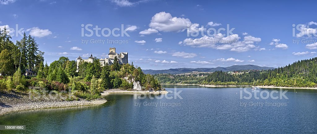 Castle on the lake royalty-free stock photo