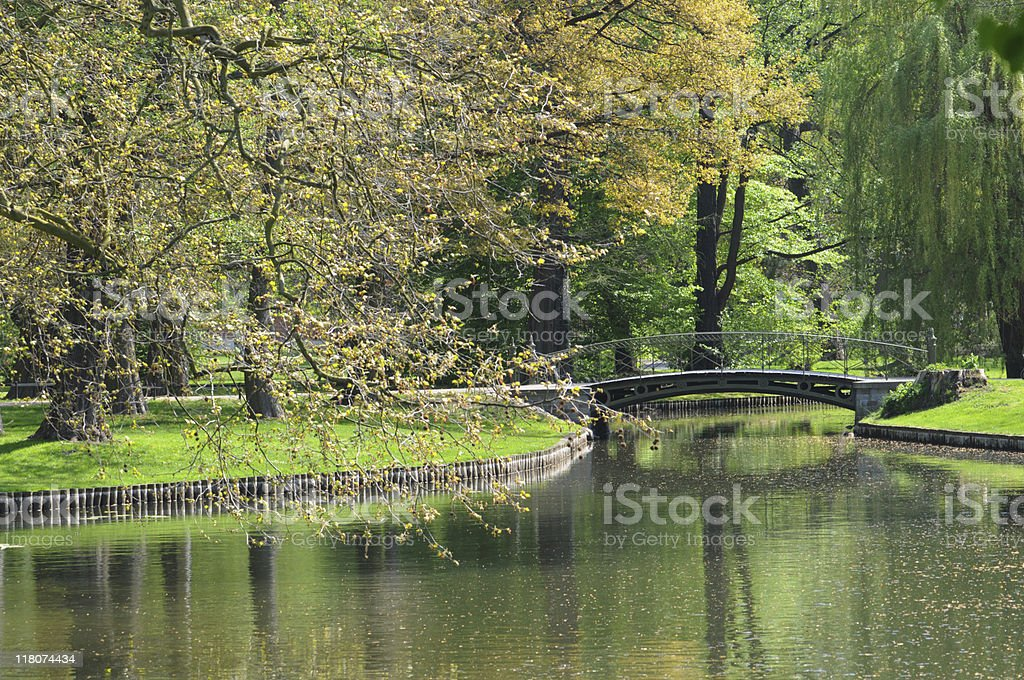 Schlosspark in Schwerin (Germany) stock photo