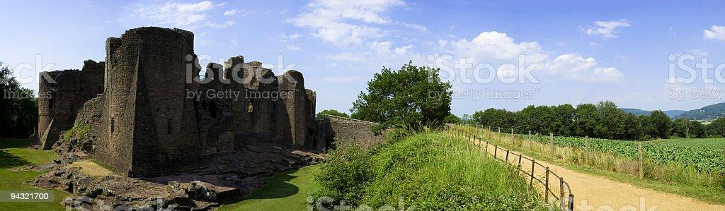 Castle path panorama royalty-free stock photo