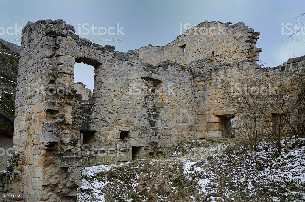 Burgruine stock photo