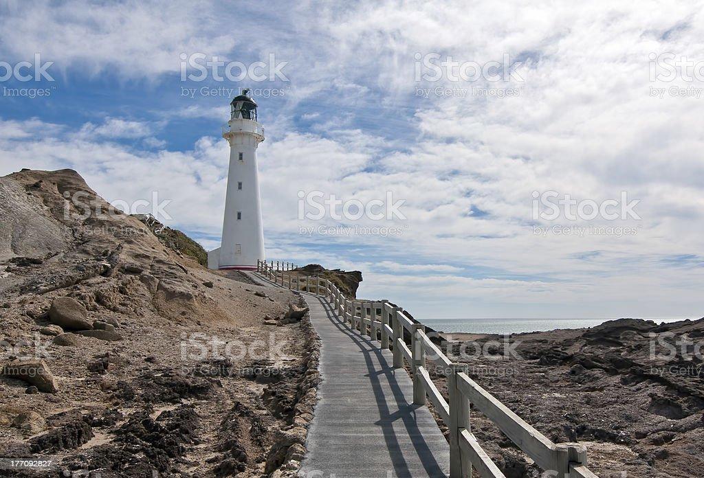 Castle Point Lighthouse, Wairarapa, New Zealand royalty-free stock photo