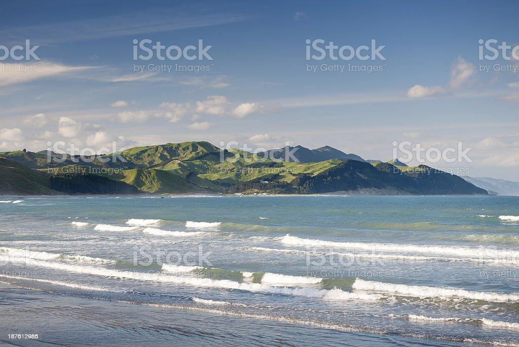 Castle Point, New Zealand stock photo