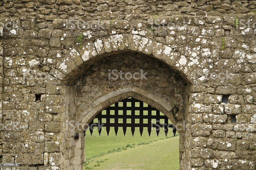 Castle Portcullis stock photo