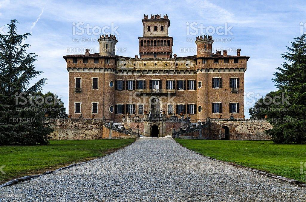 Castle Procaccini of Chignolo Po, Pavia, Italy stock photo