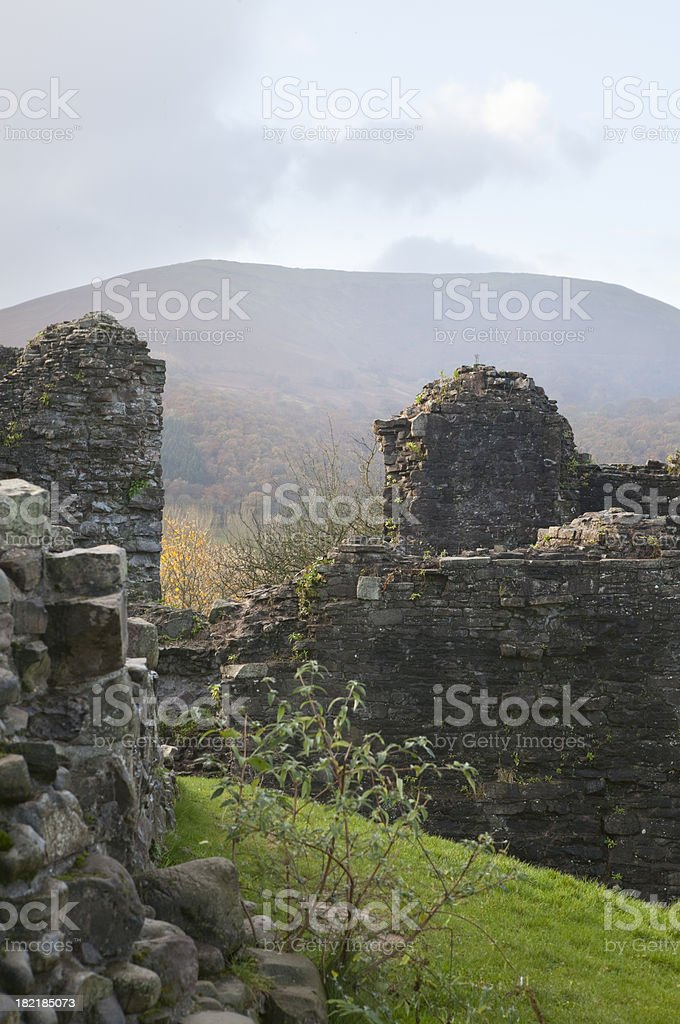 castle remains stock photo