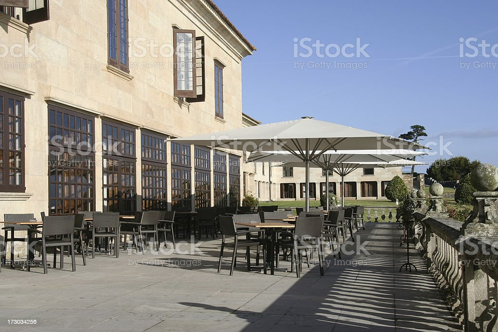Castle Restaurant. stock photo