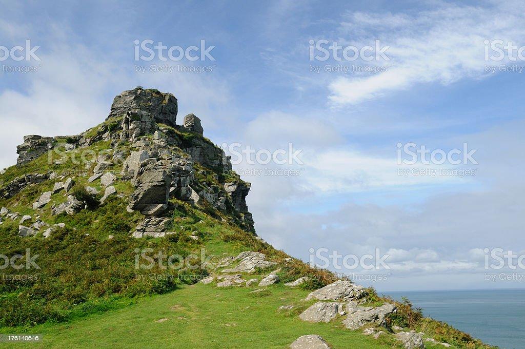 Castle Rock, Devon stock photo