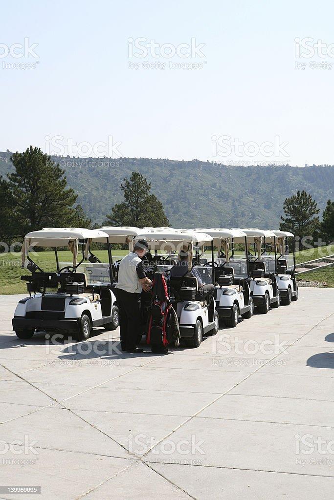 Castle Rock Golf Carts royalty-free stock photo
