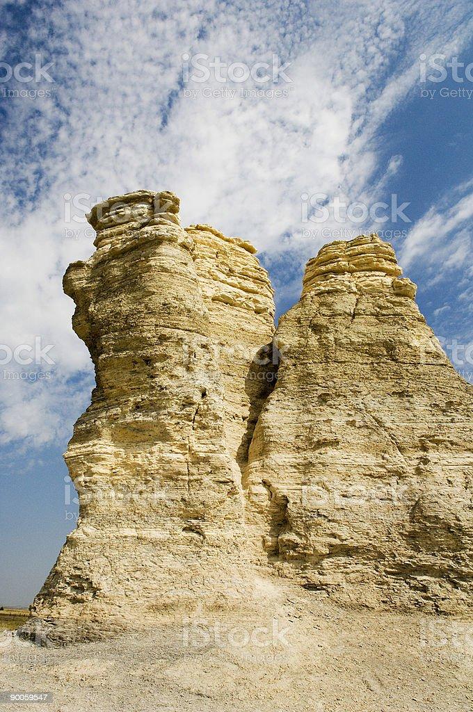Castle Rock Kansas royalty-free stock photo