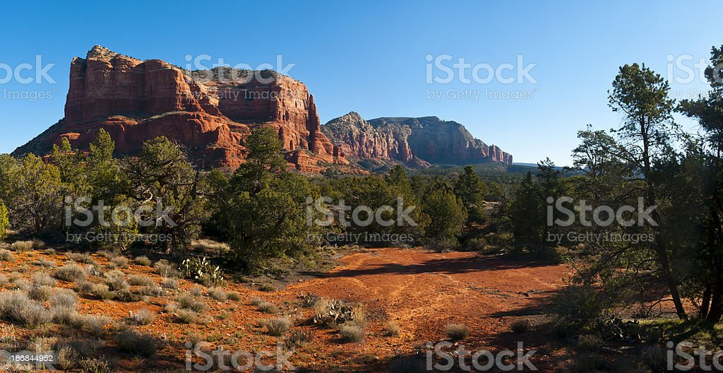 Castle Rock near Sedona stock photo