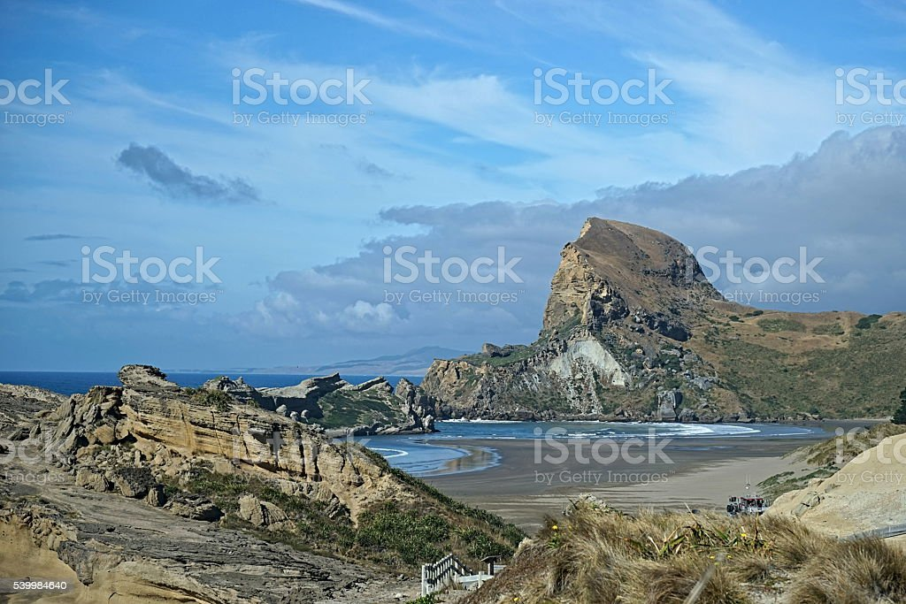 Castle Rock New Zealand stock photo