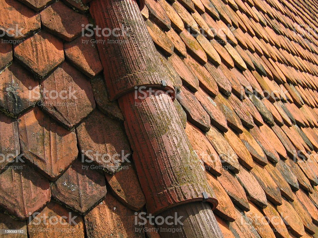 Castle roof royalty-free stock photo