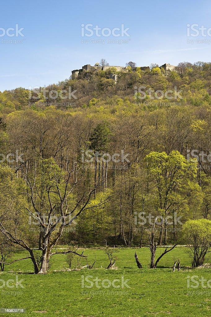 Castle ruin Hohen Urach Germany Baden-Württemberg at spring stock photo