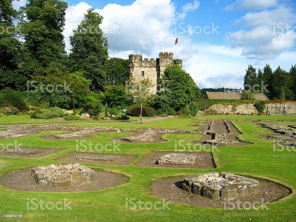 Castle Ruin in England stock photo
