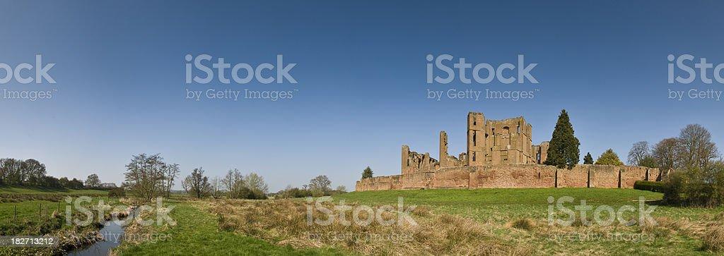 Castle Ruin Panorama royalty-free stock photo
