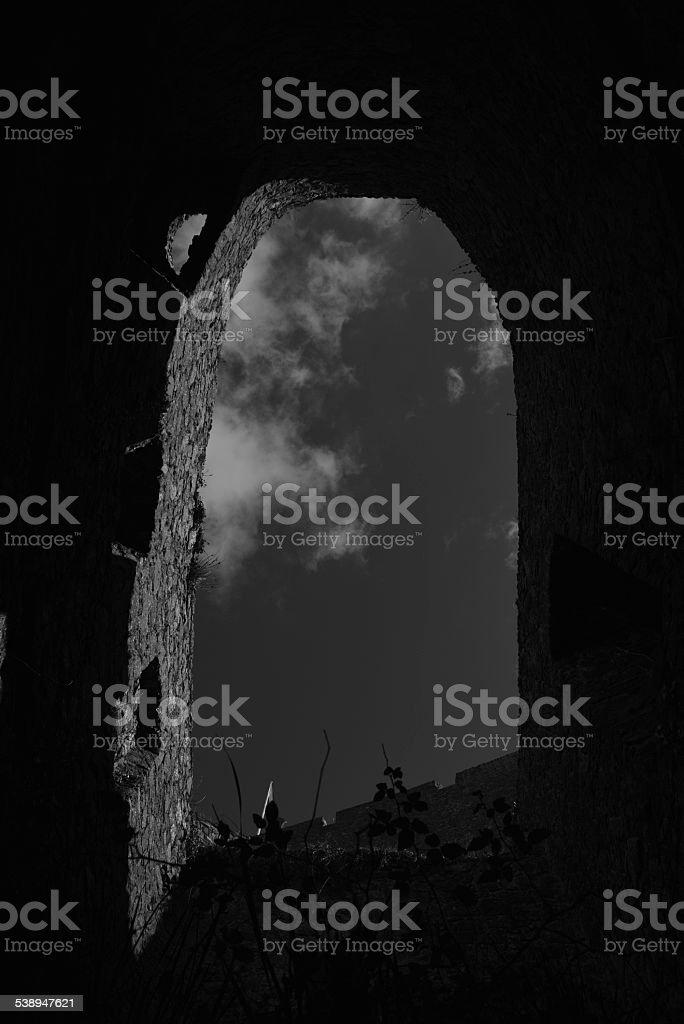 Castle ruin, U.K. stock photo