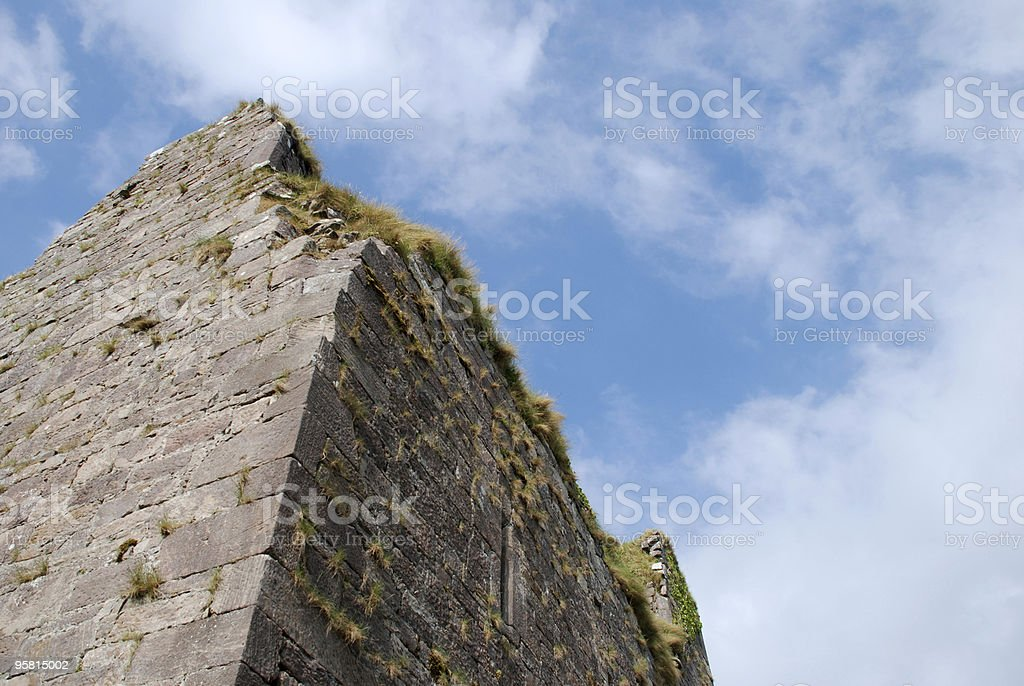 Castle Ruin with Sky royalty-free stock photo