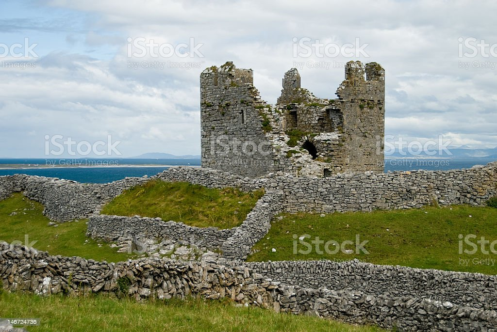 Castle Ruins on Inisheer stock photo