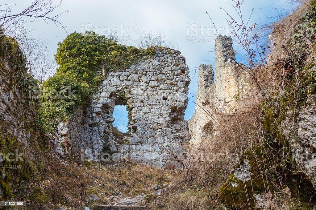 Castle ruins. stock photo