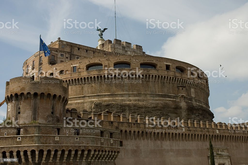 castle San Angelo close view stock photo