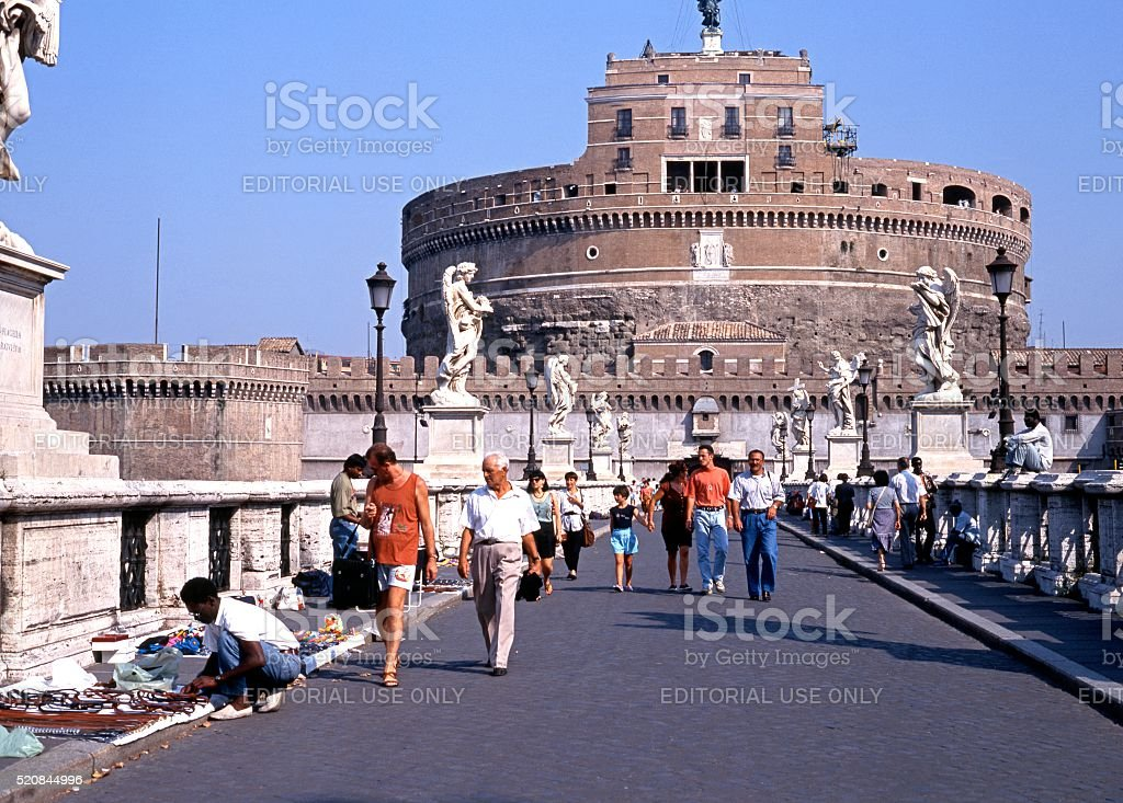 Castle San Angelo, Rome. stock photo