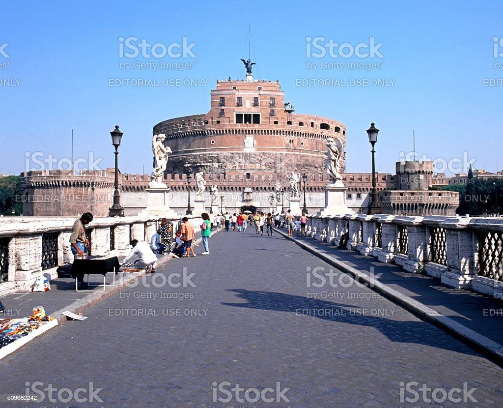 Castle Sant Angelo, Rome. stock photo