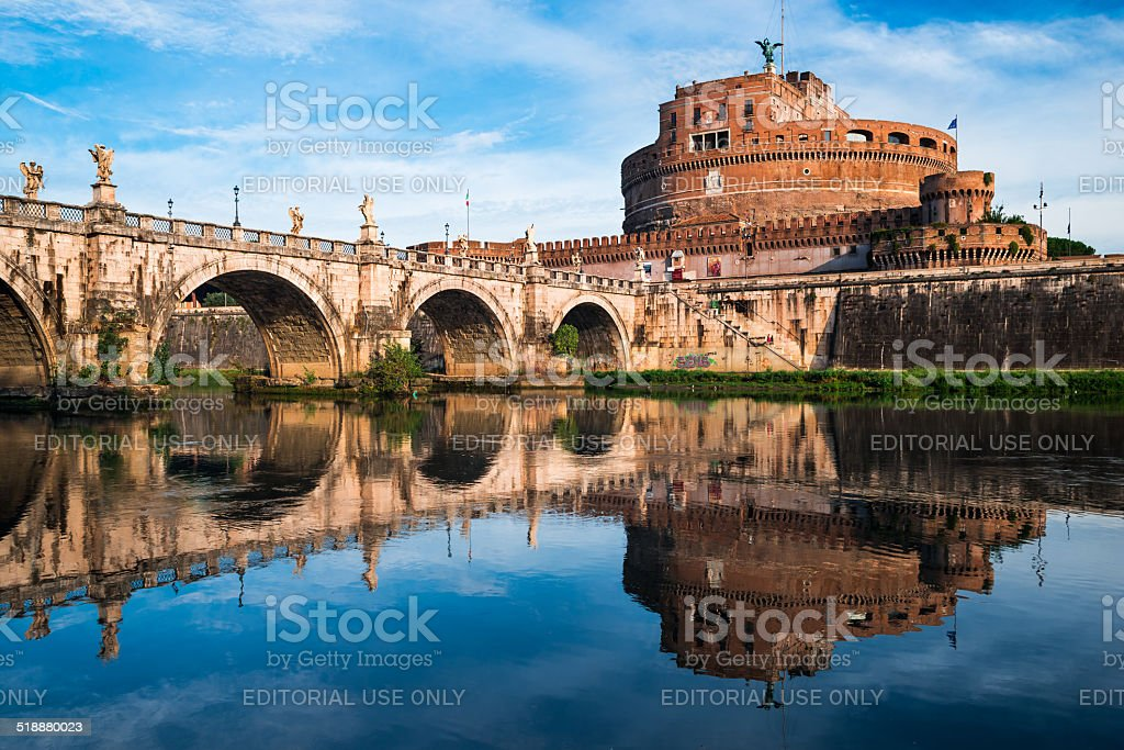 Castle Sant Angelo, Rome stock photo