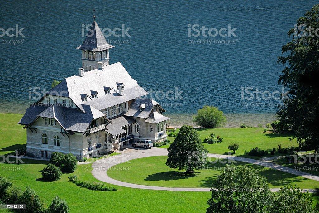 Castle Schloss Grundlsee, Ausseerland, Salzkammergut, Styria, Austria (XXXL) stock photo