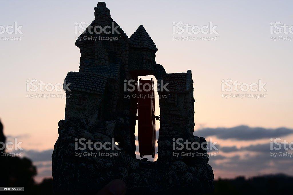 Castle Silhouette stock photo