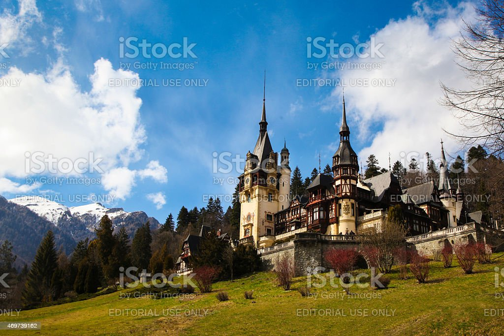 Peles Castle stock photo