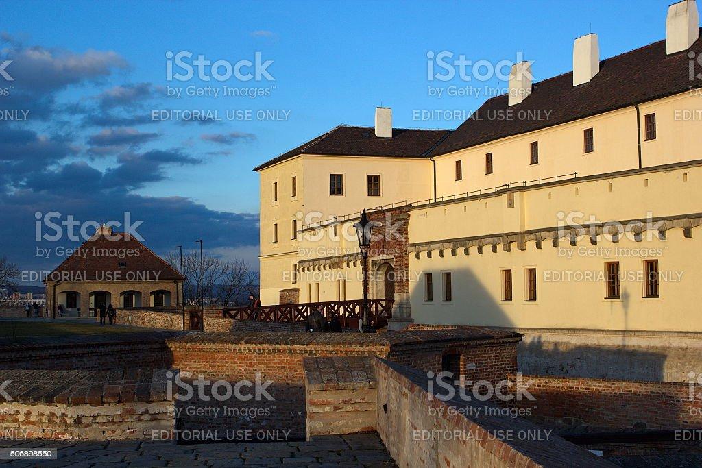 castle Spilberk in the evening, Brno, Czech republic stock photo